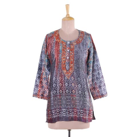 Fashionable Intricacy Embroidered Tunic