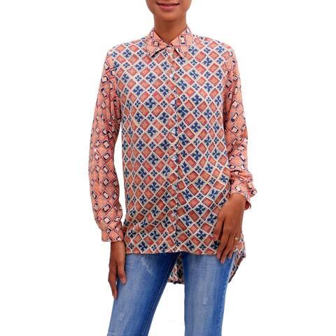 Handmade Kelud Crisscross Rayon Tunic (indonesia)