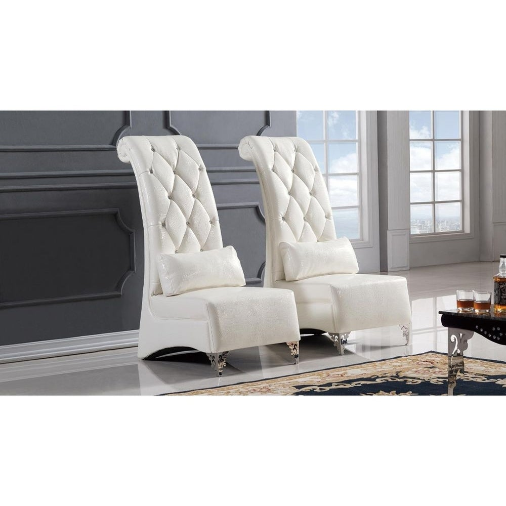 Shop Leatherette Upholstered Wooden Accent Chair With Long