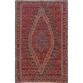 "Vintage Vegetable Dye Senneh Oriental Hand Woven Wool Persian Area Rug - 9'8"" x 6'4"""