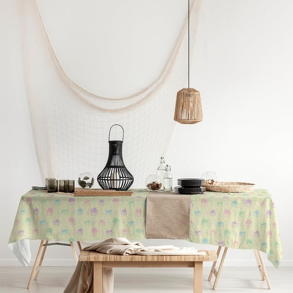 Classic Cupcake Pattern Rectangle Tablecloth - 58 x 102