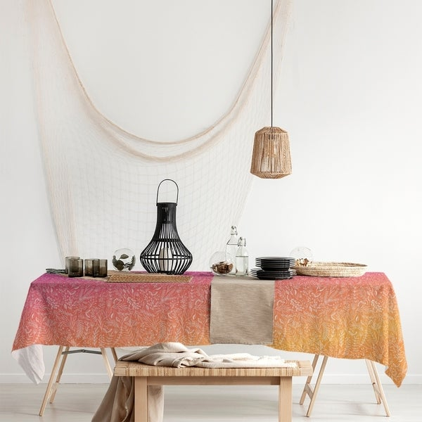 Ombre Ditsy Floral Pattern Rectangle Tablecloth - 58 x 102