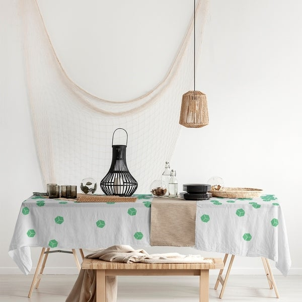 Tumbling Cube Pattern Rectangle Tablecloth - 58 x 102