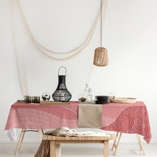 Classic Hand Drawn Waves Rectangle Tablecloth - 58 x 102
