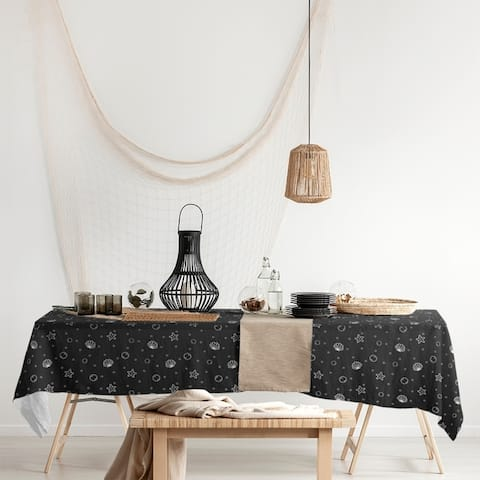 Seashell Pattern Rectangle Tablecloth - 58 x 102