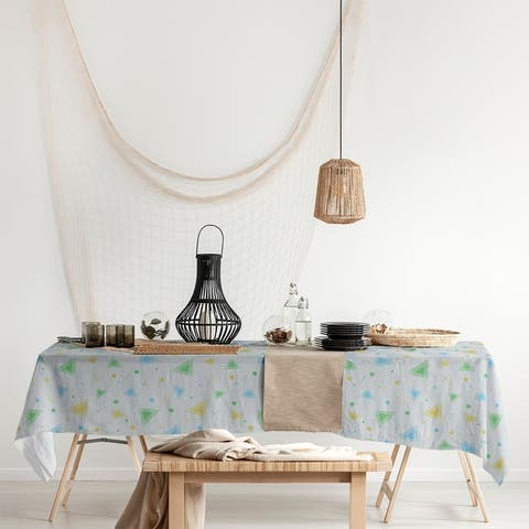 90's Retro Pattern Rectangle Tablecloth - 58 x 102