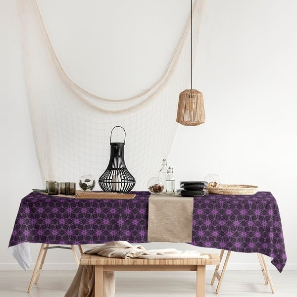 Classic Ornate Circles Rectangle Tablecloth - 58 x 102