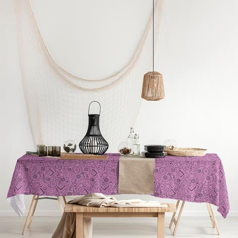 Classic RPG Pattern Rectangle Tablecloth - 58 x 102