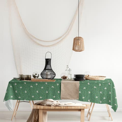 Bunny Rabbit Pattern Rectangle Tablecloth - 58 x 102