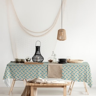 Link to Chevrons Rectangle Tablecloth - 58 x 102 Similar Items in Table Linens & Decor