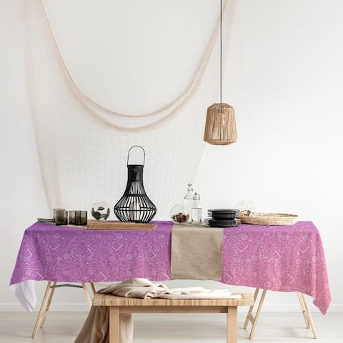 Ombre RPG Pattern Rectangle Tablecloth - 58 x 102