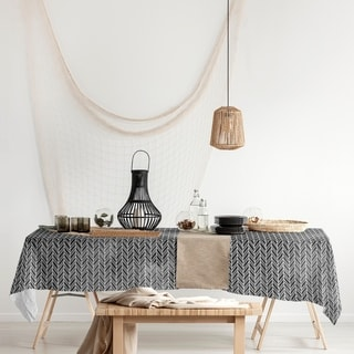 Link to Herringbone Pattern Rectangle Tablecloth - 58 x 102 Similar Items in Table Linens & Decor