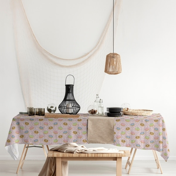 Donuts Pattern Rectangle Tablecloth - 58 x 102