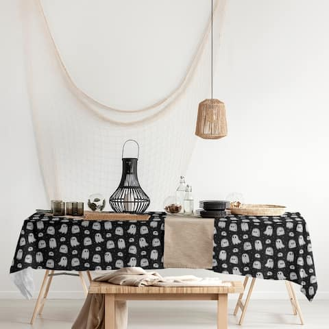 Classic Ghosts Pattern Rectangle Tablecloth - 58 x 102