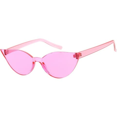 Cat Eye Frame Less Frame Candy Lens 70s Retro Fashion Sunglasses