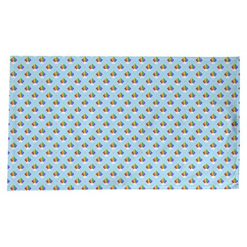 Argyle Rainbow Pattern Rectangle Tablecloth - 58 x 102