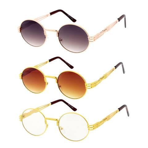 SteamPunk 80s Retro Fashion Round Frame Sunglasses Ver 4.0