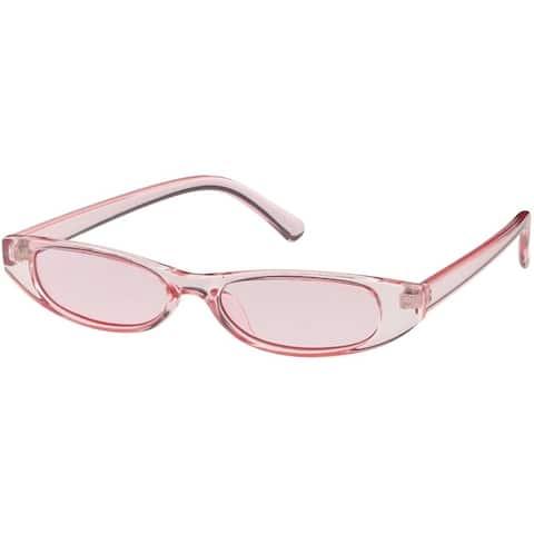 Small Tiny Oval Sleek Fashion Sunglasses