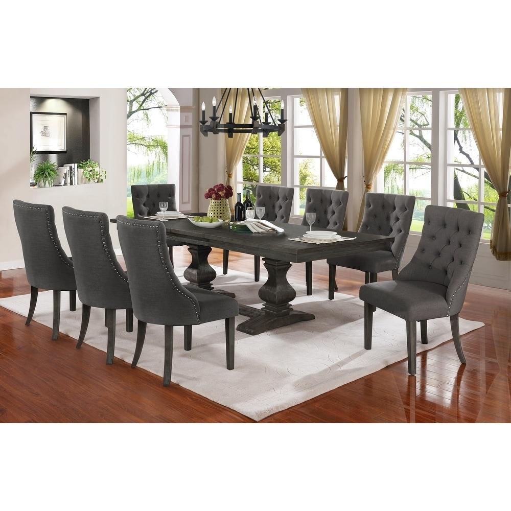 Best Quality Furniture 9 piece Trestle Base Dining Set