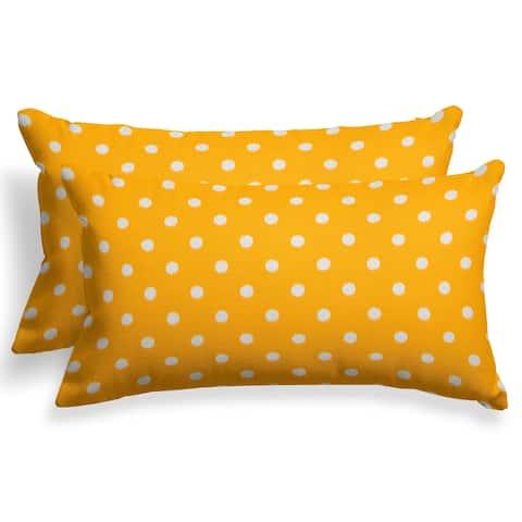 The Gray Barn Yellow Dots 24'' x 16'' Reversible Lumbar Pillow (Set of 2)