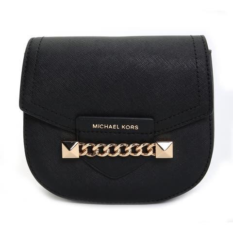Michael Kors Womens Karla Small Saddle Crossbody Bag