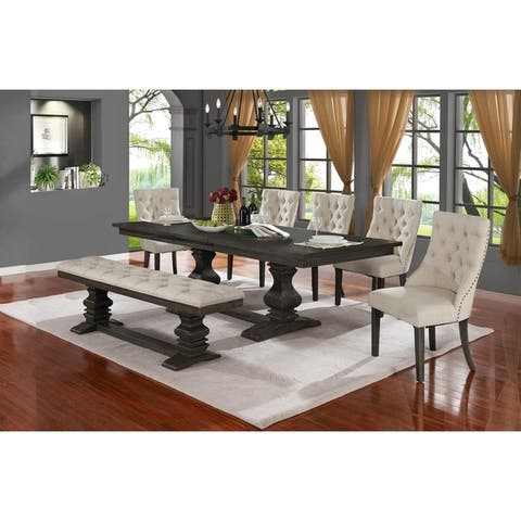 The Gray Barn Keepers Cottage 7-piece Trestle Base Dining Set