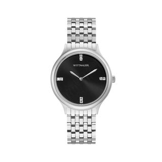 Link to Wittnauer Ladies WN4097 Stainless Black Diamond Accent Dial Bracelet Watch - N/A Similar Items in Women's Watches