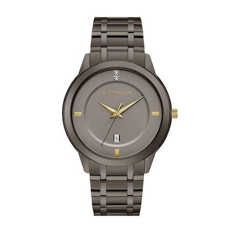Wittnauer Men's WN3091 Gunmetal Two-Tone Diamond Accent Bracelet Watch