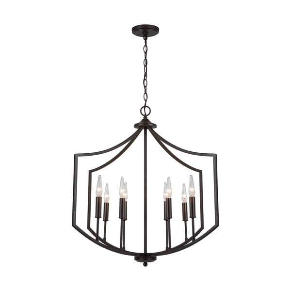 Marlow 8-light Old Bronze Foyer Pendant. Opens flyout.