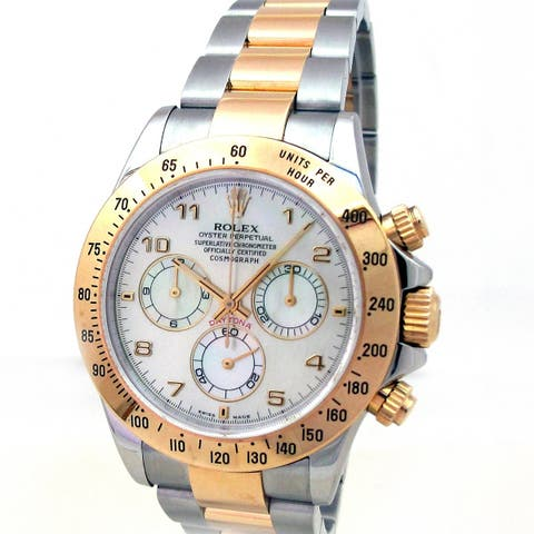 Pre-owned 40mm Rolex Daytona 116523 Mother of Pearl Dial - N/A - N/A