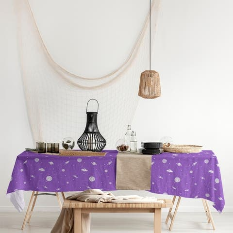 Outer Space Pattern Rectangle Tablecloth - 58 x 102