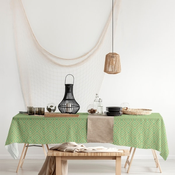 Square Lattice Rectangle Tablecloth - 58 x 102. Opens flyout.