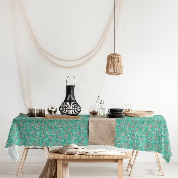 Swirly Floral Pattern Rectangle Tablecloth - 58 x 102. Opens flyout.