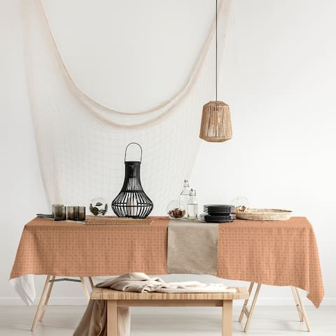 Monochrome Doily Pattern Rectangle Tablecloth - 58 x 102