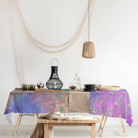 Multicolor Planets & Stars Rectangle Tablecloth - 58 x 102