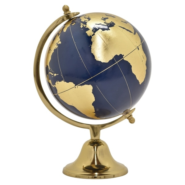 "18.5 "" Globe12"" Without Border in Gold - 12 x 12 x 18.5"