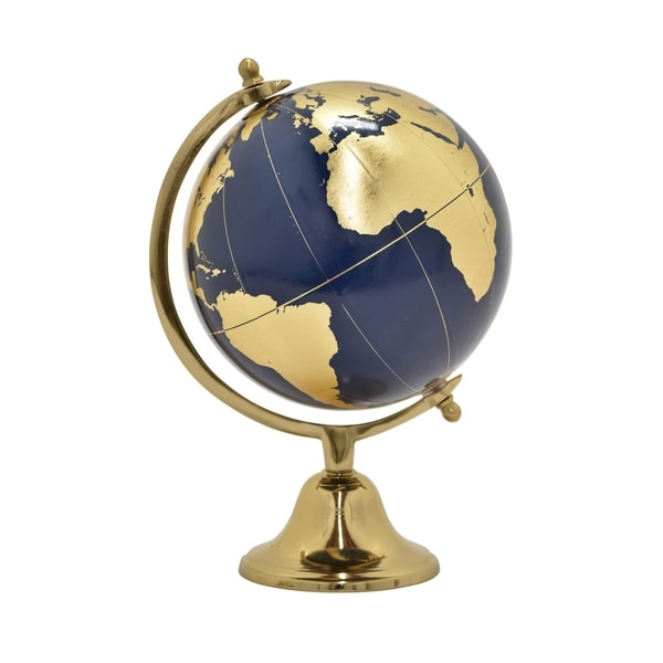 "9 "" Globe 5"" Without Border in Gold - 5 x 5 x 9"