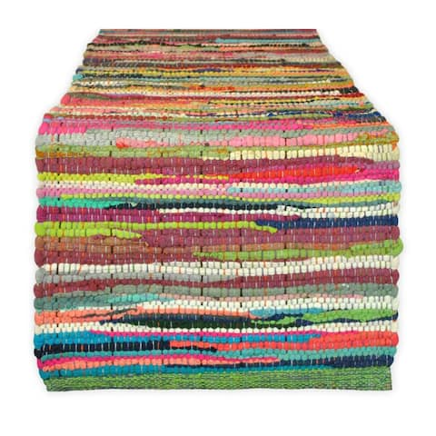 DII Solid Chindi Table Runner