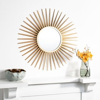 "Safavieh 36"" Zyla Sunburst Mirror - Gold - 36"" x 1"" x 36"""