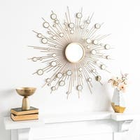 "Safavieh 41"" Ariah Sunburst Mirror - Gold - 41"" x 2"" x 41"""