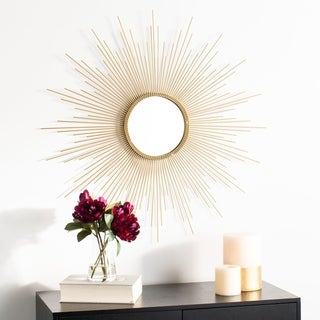 """Safavieh 36"""" Lorien Sunburst Mirror - Champagne - 35.8"""" x 1"""" x 36"""""""