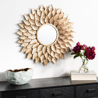 "Safavieh 27"" Lana Sunburst Mirror - Gold - 26.8"" x 1.3"" x 26.8"""