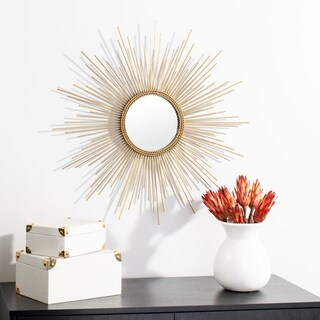 "Safavieh 26"" Nahla Sunburst Mirror - Gold - 26"" x 1"" x 26"""