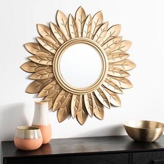 "Safavieh 30"" Alba Sunburst Mirror - Gold - 30.3"" x 1.5"" x 30.3"""