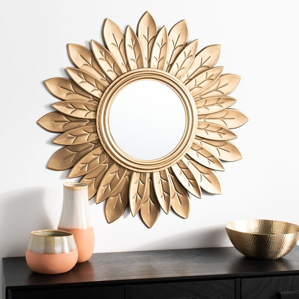 "Safavieh 30"" Alba Sunburst Mirror - Gold - 30.3"" x 1.5"" x 30.3"""