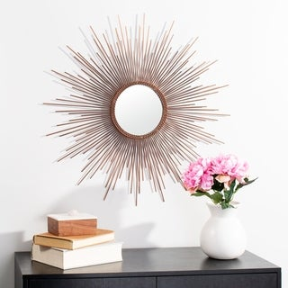 "Safavieh 30"" Genevieve Sunburst Mirror - Copper - 30"" x 1"" x 30"""