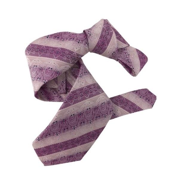 DMITRY 7-Fold Purple Patterned Italian Silk Tie