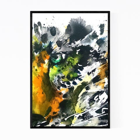 Noir Gallery Leopard Animal Abstract Painting Framed Art Print