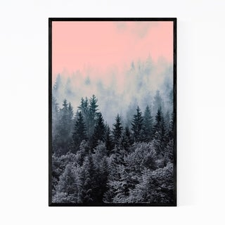 Noir Gallery Foggy Forest Nature Mountains Framed Art Print