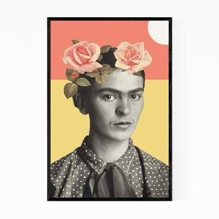 Noir Gallery Frida Kahlo Minimal Geometric Framed Art Print